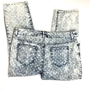 Chico's Platinum Dotted Cropped Jeans
